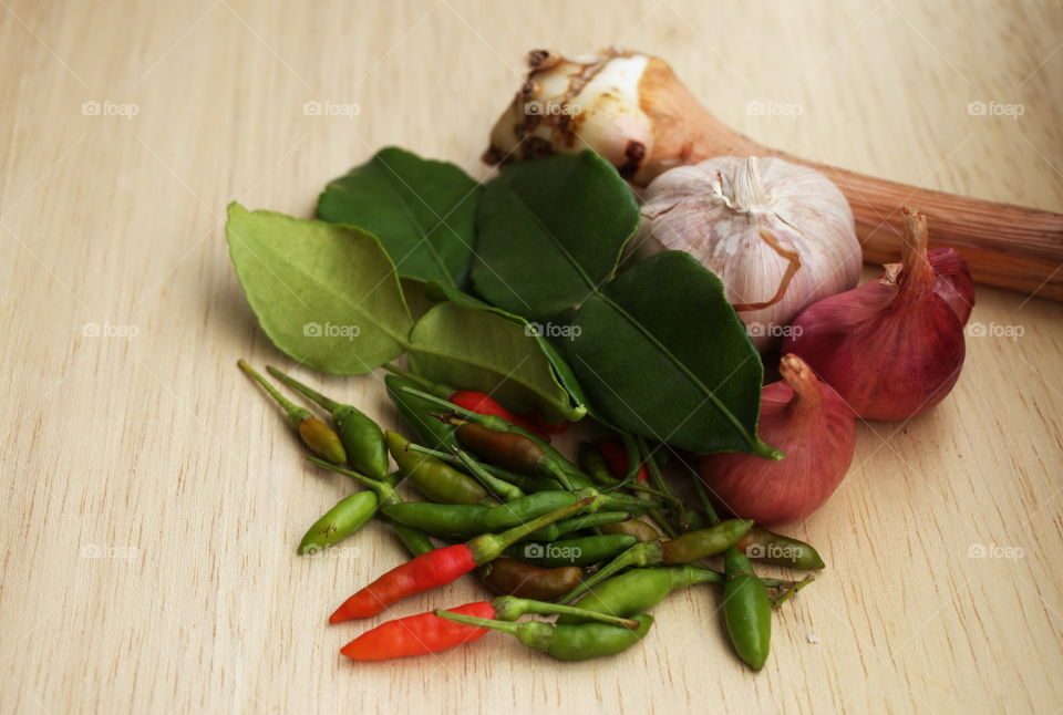 Thai curry for cooking in the kitchen. (roasted chilli curry)