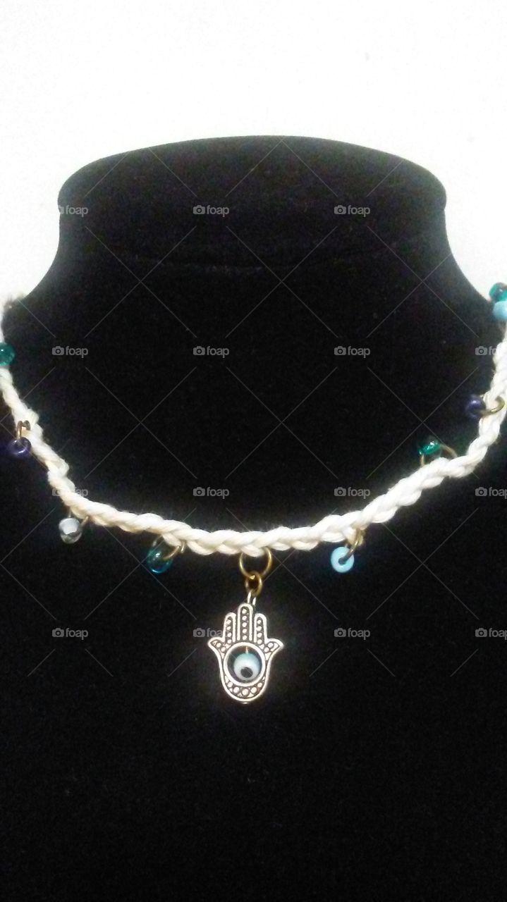 Hamsa Necklace Katydids ThisnThat Etsy