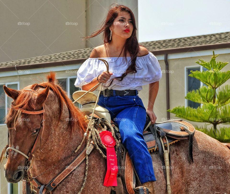 sexy riding girl