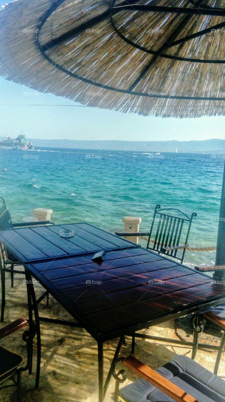 Restaurant by the sea, Bol island Brac, Croatia