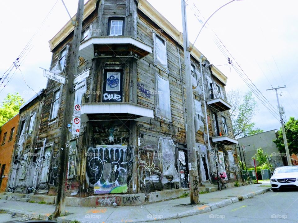 Abandoned building in Montreal