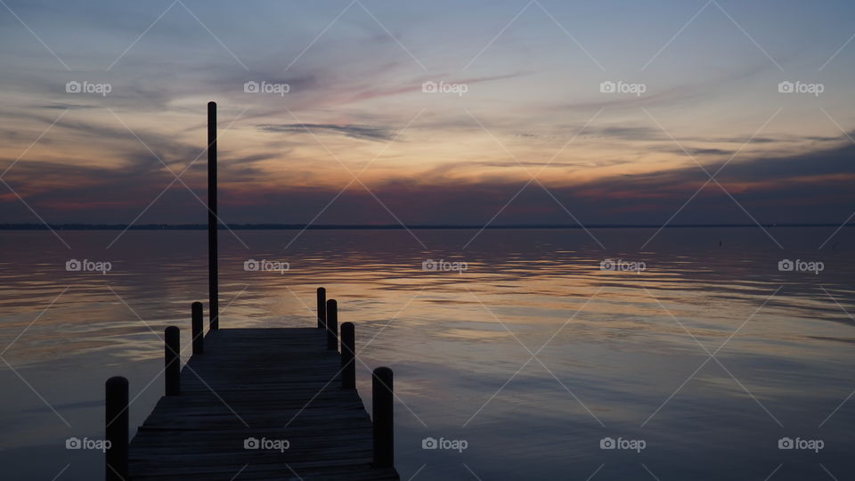 Sunset, Dawn, Water, No Person, Sun