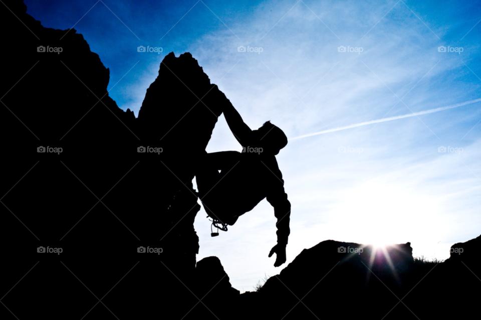 mountain silhouette blue sky alps by Riccardo.Mojana