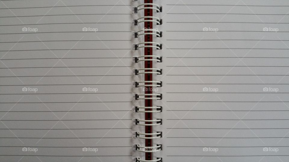 Blank page of notebook