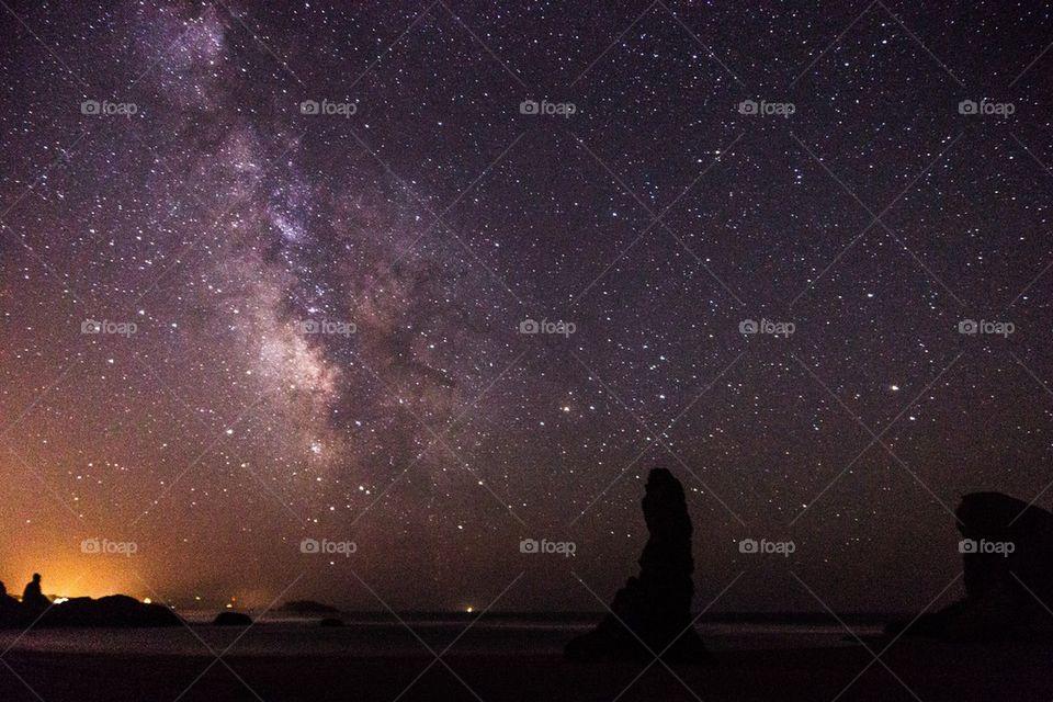 Milky way on oregon coast