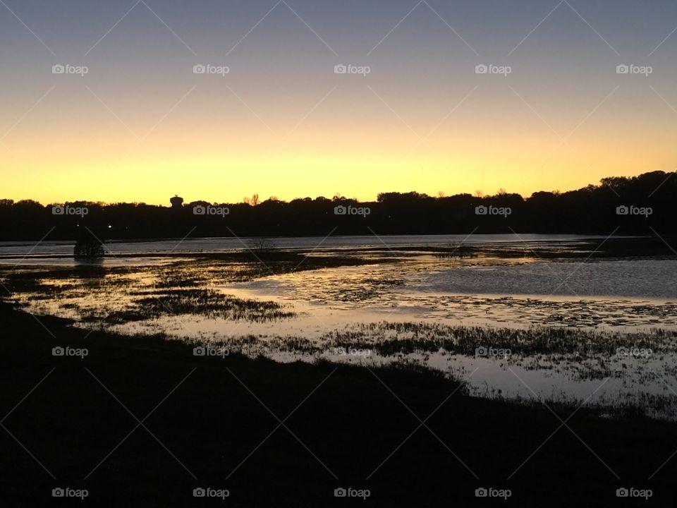 Beautiful Florida sunset in January 2019