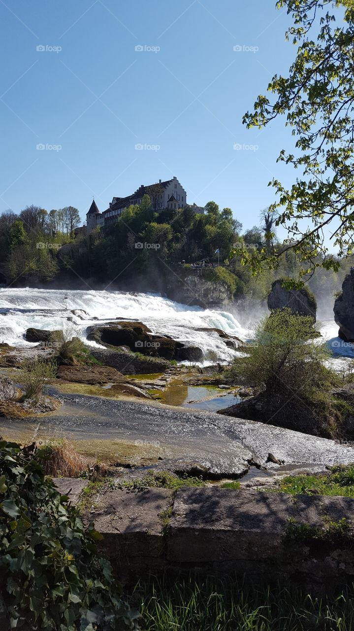 der Rheinfall schweiz die schöne  Burg