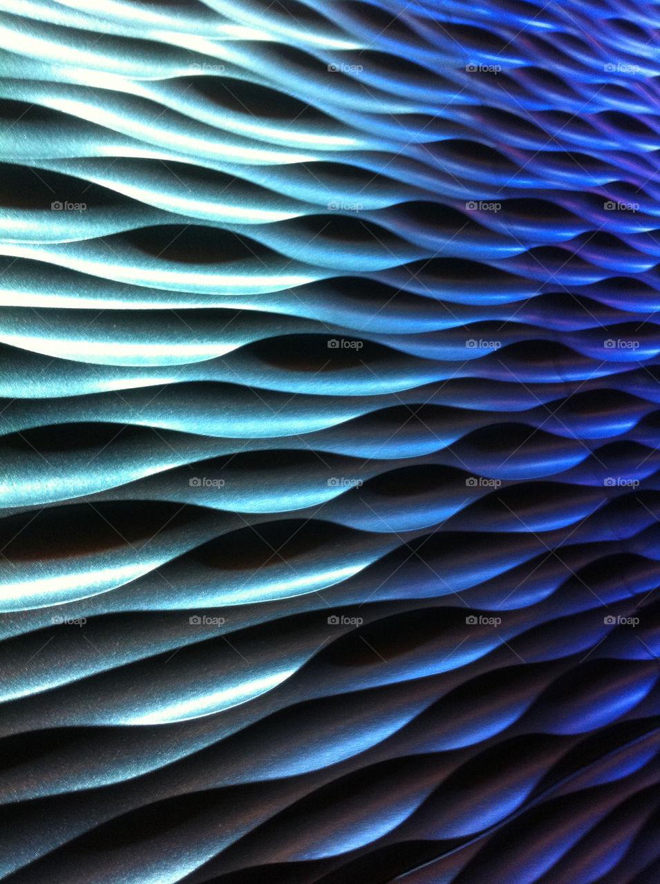 green blue pattern sculpture by dedlaast