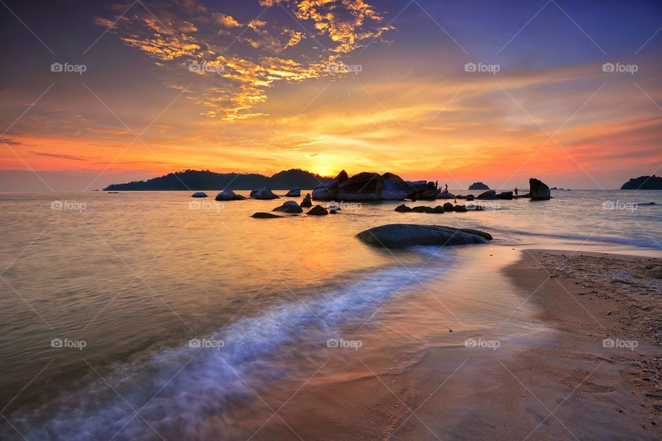 Beautiful sunset at Pangkor Islabd