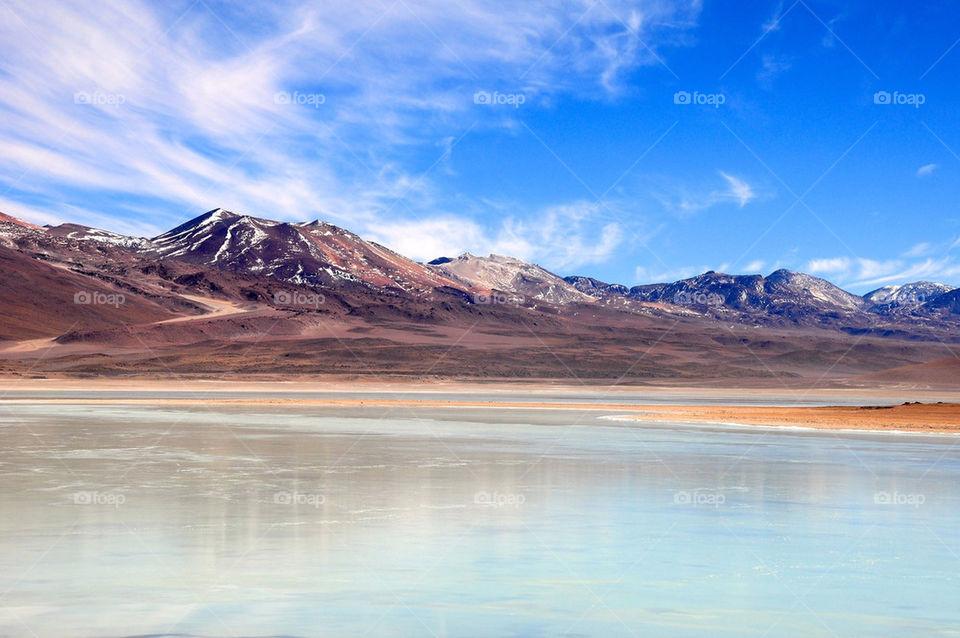 White lagoon, bolivia