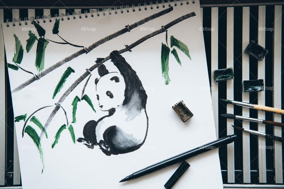 Japanese art, sumie